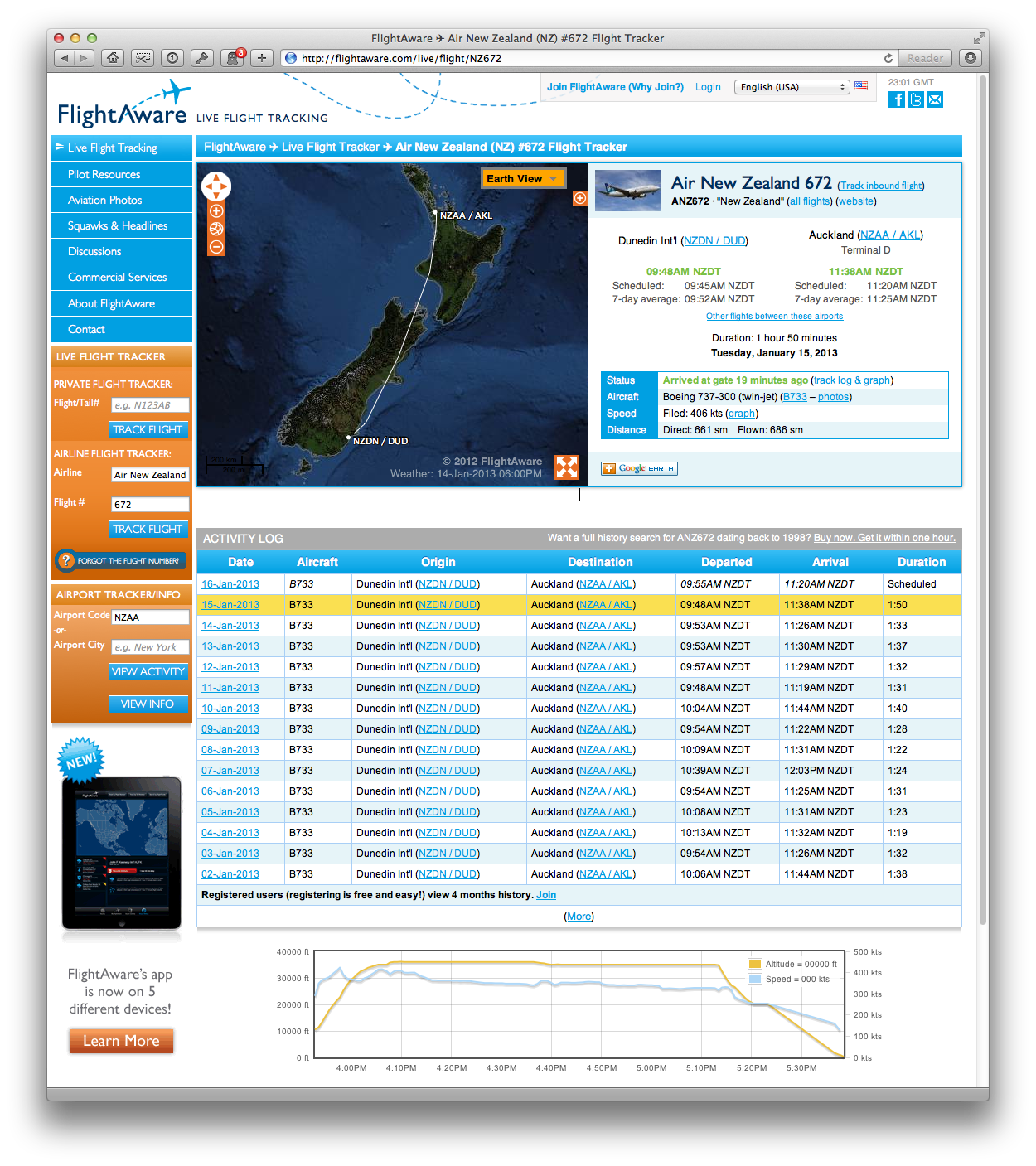 FlightAware New Zealand