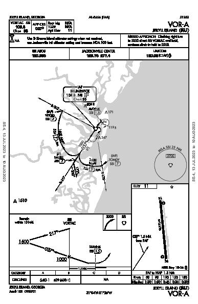 Jekyll Island Jekyll Island, GA (09J): VOR-A (IAP)