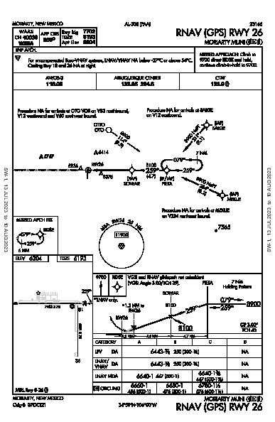 Moriarty Muni Moriarty, NM (0E0): RNAV (GPS) RWY 26 (IAP)