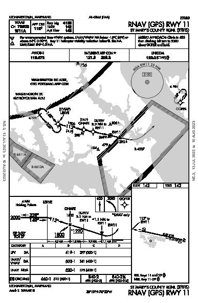 St Mary's County Rgnl Leonardtown, MD (2W6): RNAV (GPS) RWY 11 (IAP)