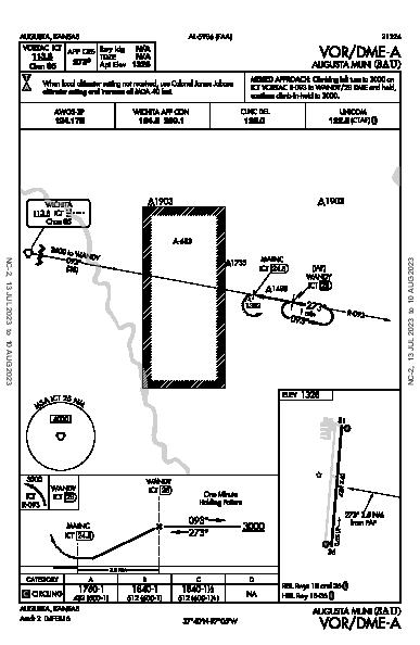 Augusta Muni Augusta, KS (3AU): VOR/DME-A (IAP)