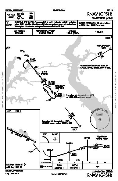 Claremont Elkton, MD (58M): RNAV (GPS)-B (IAP)