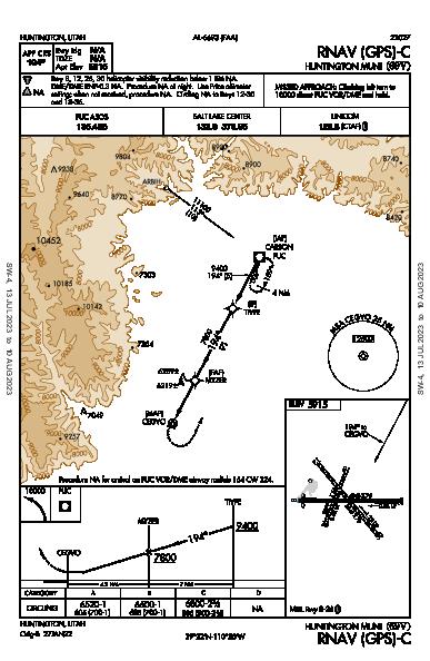 Huntington Muni Huntington, UT (69V): RNAV (GPS)-C (IAP)