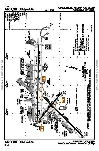 Albuquerque Intl Sunport Albuquerque, NM (KABQ): AIRPORT DIAGRAM (APD)