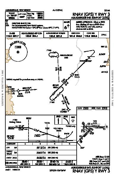 Albuquerque Intl Sunport Albuquerque, NM (KABQ): RNAV (GPS) Y RWY 03 (IAP)