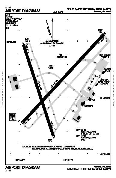 Southwest Georgia Rgnl Albany, GA (KABY): AIRPORT DIAGRAM (APD)