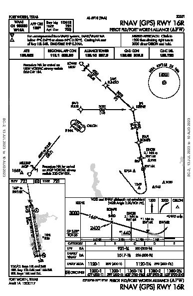 Fort Worth Alliance Fort Worth, TX (KAFW): RNAV (GPS) RWY 16R (IAP)