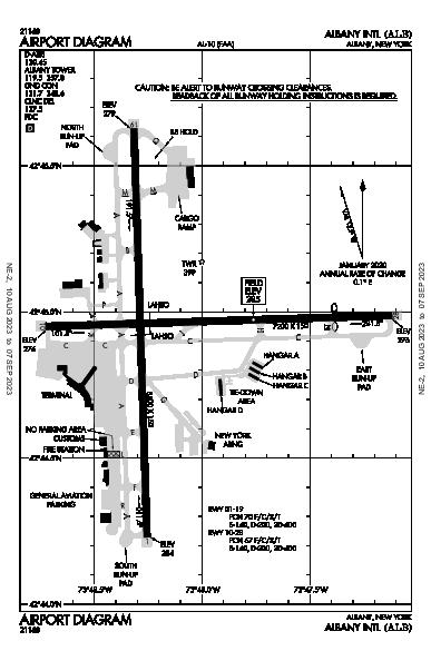 KALB AIRPORT DIAGRAM (APD) ✈ FlightAware