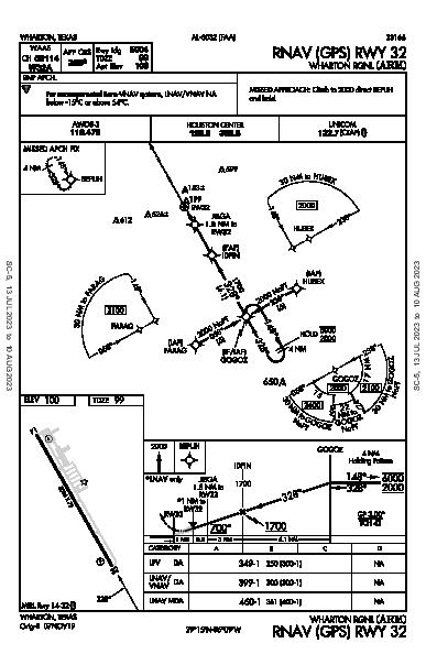 Wharton Rgnl Wharton, TX (KARM): RNAV (GPS) RWY 32 (IAP)