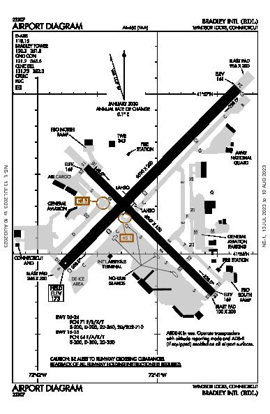 Bradley Intl Windsor Locks, CT (KBDL): AIRPORT DIAGRAM (APD)