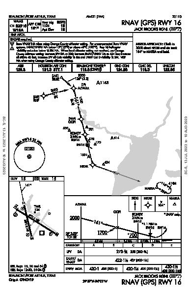 Jack Brooks Rgnl Beaumont/Port Arthur, TX (KBPT): RNAV (GPS) RWY 16 (IAP)