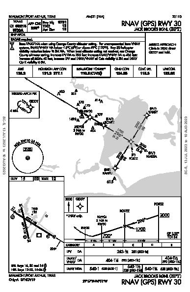 Jack Brooks Rgnl Beaumont/Port Arthur, TX (KBPT): RNAV (GPS) RWY 30 (IAP)