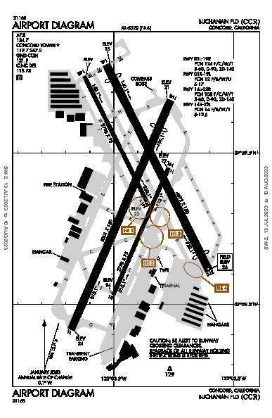 Buchanan Fld Concord, CA (KCCR): AIRPORT DIAGRAM (APD)