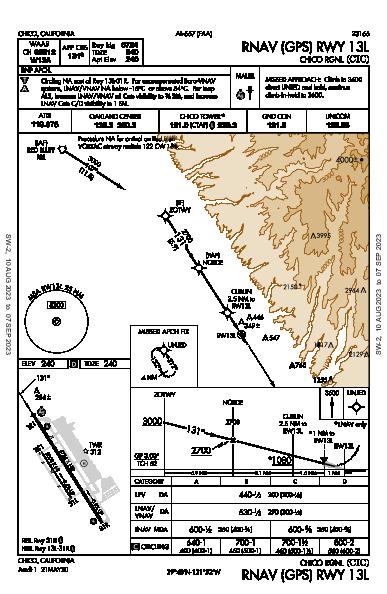 Chico Muni Chico, CA (KCIC): RNAV (GPS) RWY 13L (IAP)