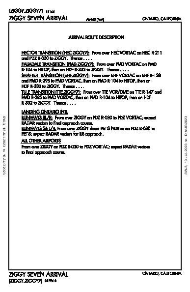 Chino Chino, CA (KCNO): ZIGGY SEVEN (STAR)