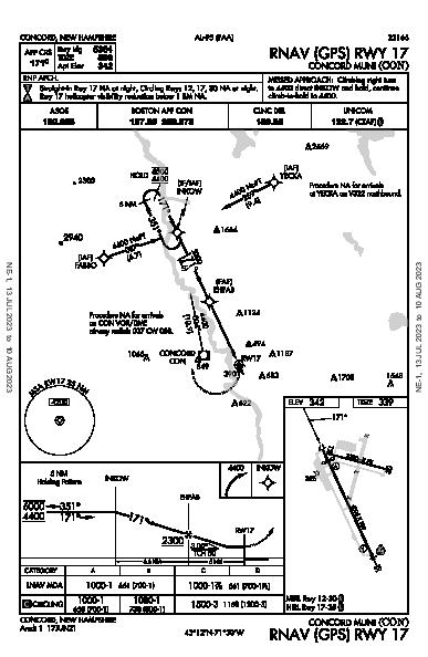 Concord Muni Concord, NH (KCON): RNAV (GPS) RWY 17 (IAP)
