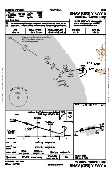 McClellan-Palomar Carlsbad, CA (KCRQ): RNAV (GPS) Y RWY 06 (IAP)