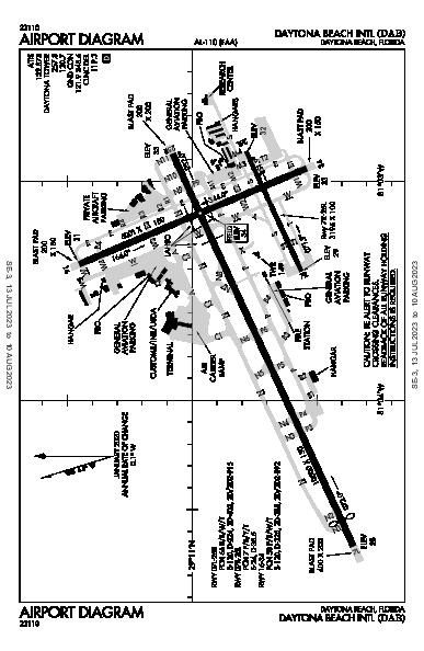 Daytona Beach Intl Daytona Beach, FL (KDAB): AIRPORT DIAGRAM (APD)