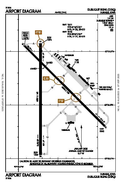 Dubuque Rgnl Dubuque, IA (KDBQ): AIRPORT DIAGRAM (APD)