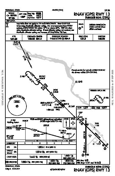 Dubuque Rgnl Dubuque, IA (KDBQ): RNAV (GPS) RWY 13 (IAP)