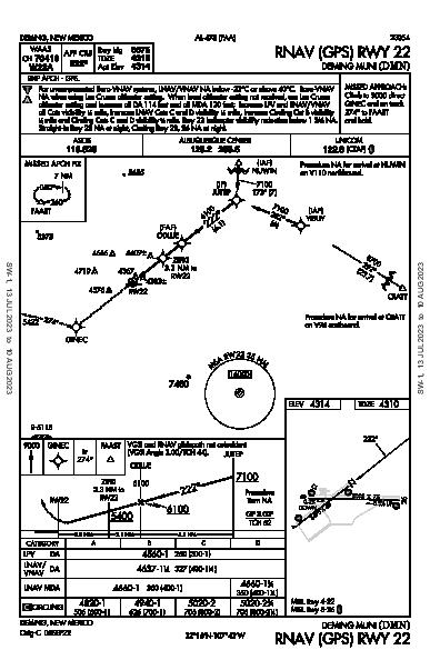 Deming Muni Deming, NM (KDMN): RNAV (GPS) RWY 22 (IAP)