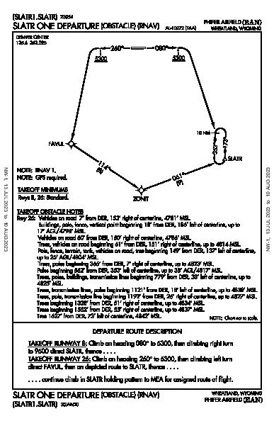 Phifer Airfield Wheatland, WY (KEAN): SLATR ONE (OBSTACLE) (RNAV) (ODP)