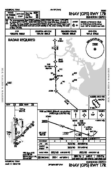 Houston Ellington Houston, TX (KEFD): RNAV (GPS) RWY 17R (IAP)