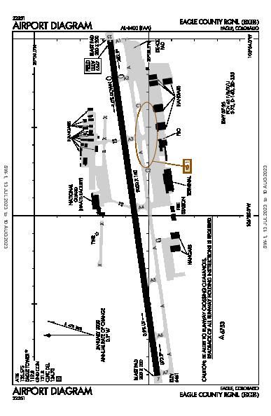 Eagle County Eagle, CO (KEGE): AIRPORT DIAGRAM (APD)