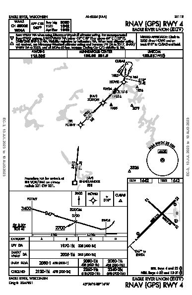 Eagle River Union Eagle River, WI (KEGV): RNAV (GPS) RWY 04 (IAP)