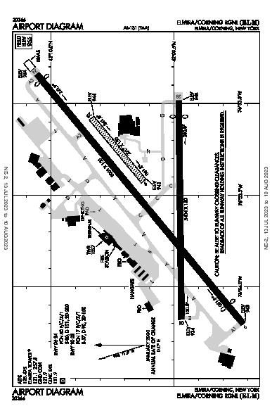 Elmira/Corning Rgnl Elmira/Corning, NY (KELM): AIRPORT DIAGRAM (APD)