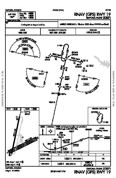 Emporia Muni Emporia, KS (KEMP): RNAV (GPS) RWY 19 (IAP)