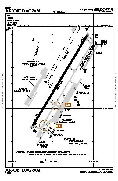 Kenai Muni Kenai, AK (PAEN): AIRPORT DIAGRAM (APD)