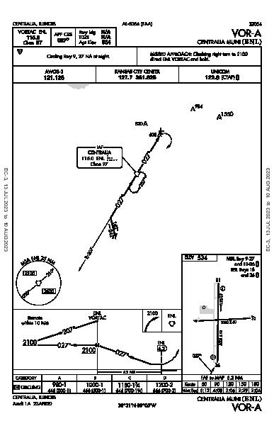Centralia Muni Centralia, IL (KENL): VOR-A (IAP)