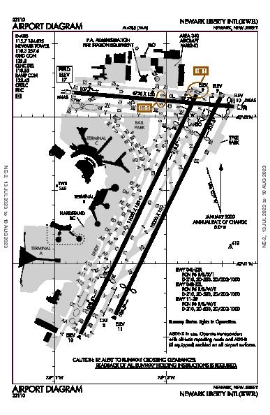 Newark Liberty Intl Newark, NJ (KEWR): AIRPORT DIAGRAM (APD)