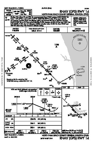 North Palm Beach County General Aviation West Palm Beach, FL (F45): RNAV (GPS) RWY 14 (IAP)