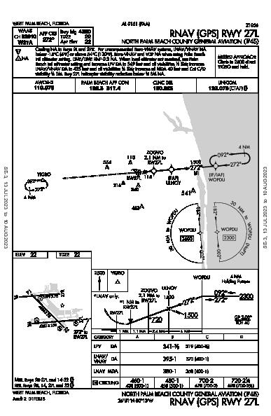 North Palm Beach County General Aviation West Palm Beach, FL (F45): RNAV (GPS) RWY 27L (IAP)