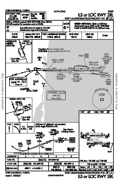 Int'l Fort Lauderdale-Hollywood Fort Lauderdale, FL (KFLL): ILS OR LOC RWY 28L (IAP)