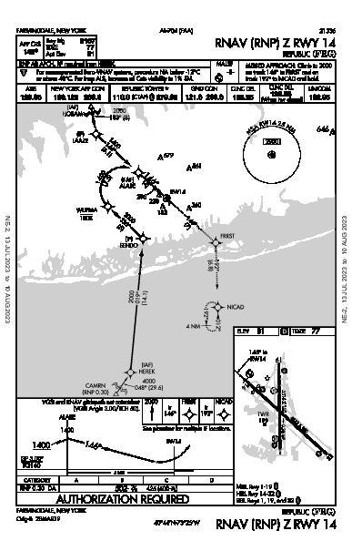 Republic Farmingdale, NY (KFRG): RNAV (RNP) Z RWY 14 (IAP)