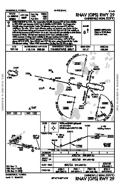 Gainesville Rgnl Gainesville, FL (KGNV): RNAV (GPS) RWY 29 (IAP)