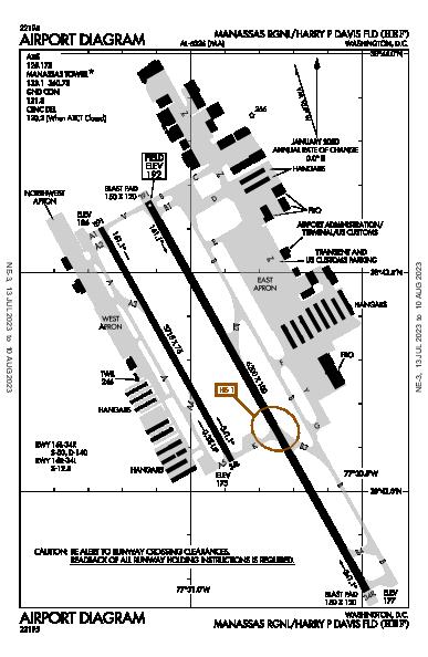 Manassas Rgnl Washington, DC (KHEF): AIRPORT DIAGRAM (APD)