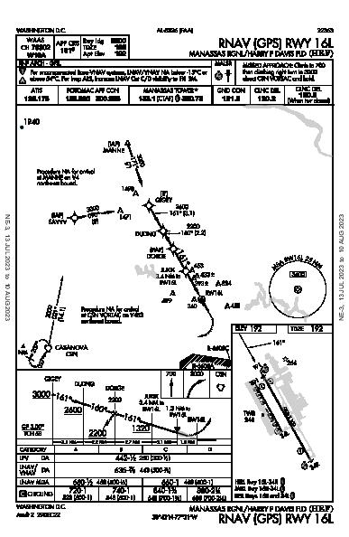 Manassas Rgnl Washington, DC (KHEF): RNAV (GPS) RWY 16L (IAP)