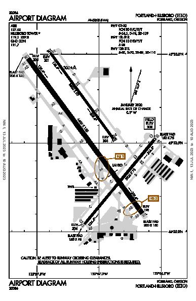 Portland-Hillsboro Portland, OR (KHIO): AIRPORT DIAGRAM (APD)