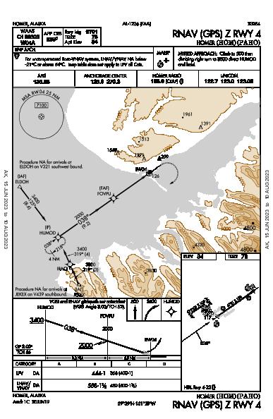 Homer Homer, AK (PAHO): RNAV (GPS) Z RWY 04 (IAP)