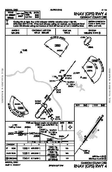 Clermont County Batavia, OH (I69): RNAV (GPS) RWY 04 (IAP)