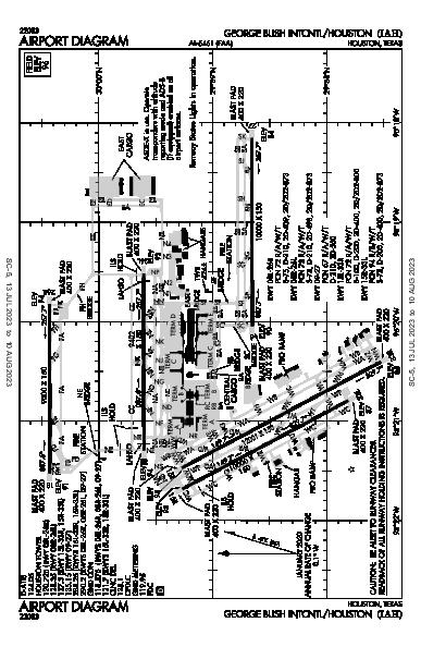 喬治·布什洲際機場 Houston, TX (KIAH): AIRPORT DIAGRAM (APD)