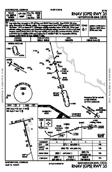 Natchitoches Rgnl Natchitoches, LA (KIER): RNAV (GPS) RWY 35 (IAP)