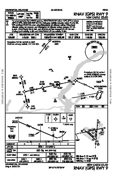New Castle Wilmington, DE (KILG): RNAV (GPS) RWY 09 (IAP)