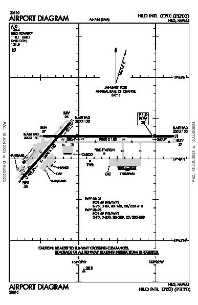 Hilo Intl Hilo, HI (PHTO): AIRPORT DIAGRAM (APD)