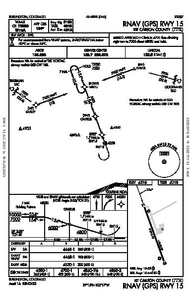 Kit Carson County Burlington, CO (KITR): RNAV (GPS) RWY 15 (IAP)