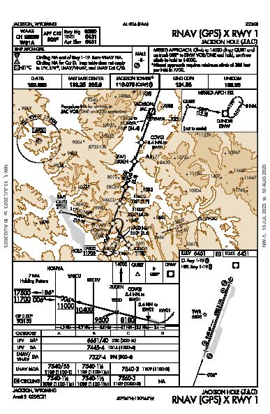 Jackson Hole Jackson, WY (KJAC): RNAV (GPS) X RWY 01 (IAP)